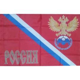 Флаг РОССИЯ красный 80 х 120 см