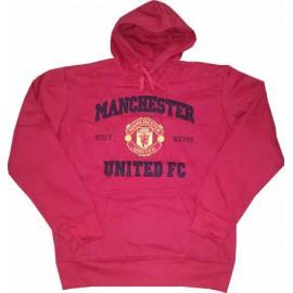 Толстовка Манчестер Юнайтед худи красная с капюшоном