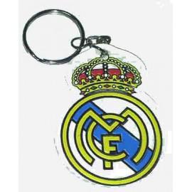"Брелок резиновый Реал Мадрид ""эмблема"" двусторонний"