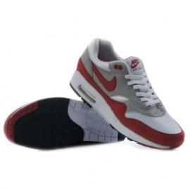 Кроссовки Nike Air Max 87 красно-серые замша