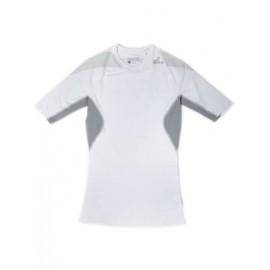 Футболка Adidas компресси бело-серая (Термофутболка)