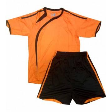 Комплект футбольной формы АС-2010 оранжевая подростковая