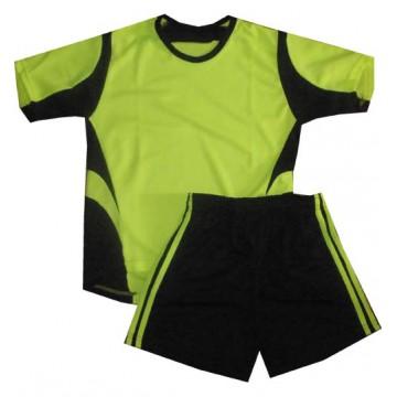 Комплект футбольной формы РС лимонная подростковая