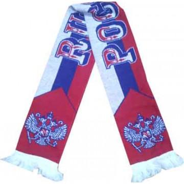 Россия шарф трикотажный триколор