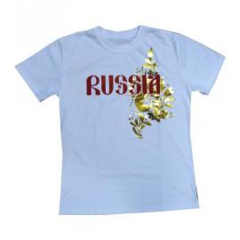 Футболка Россия белая