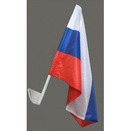 Флаг РОССИЯ автомобильный с креплением, 2 шт
