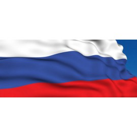Флаг РОССИЯ триколор 90 х 130 см