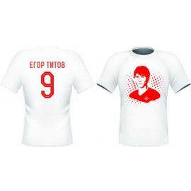 Футболка Спартак ТИТОВ 9 белая