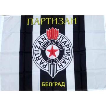 Партизан / Белград / флаг 80 х 120 см