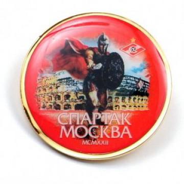 Значок Спартак Гладиатор красный