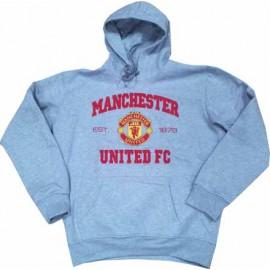 Толстовка Манчестер Юнайтед худи серая с капюшоном