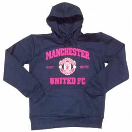 Толстовка Манчестер Юнайтед худи черная с капюшоном