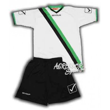 Комплект формы KIT TRANSVERSAL бело-черно-зеленая