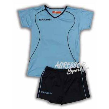 Волейбольная форма женская KIT ATTACO лазурная