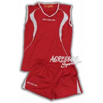 Волейбольная форма женская KIT VOLO красная