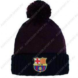 Барселона шапка с помпоном