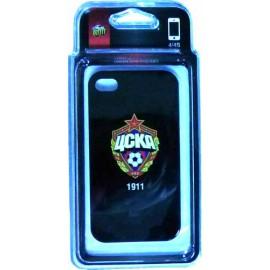 Клип-кейс для iPhone 4/4S ЦСКА черный
