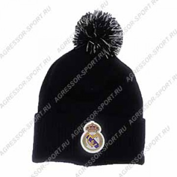 Реал Мадрид шапка с пумпоном