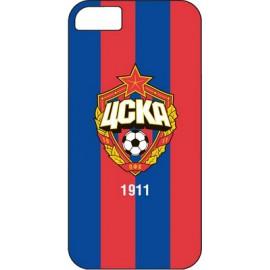 Клип-кейс для iPhone 5/5S ЦСКА красно-синий