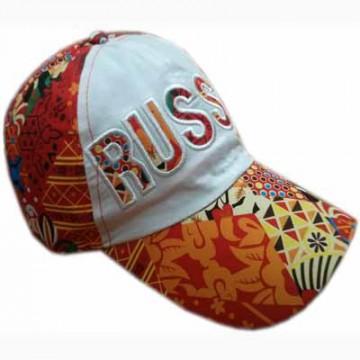Бейсболка Россия абстракция оранжевая