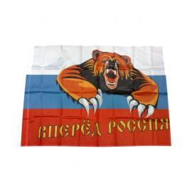 """Флаг """"Вперед, Россия!"""" 90см х 60см"""