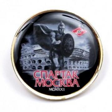 Значок Спартак Гладиатор черный