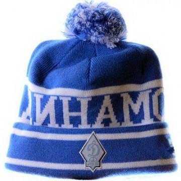 Динамо шапка с помпоном