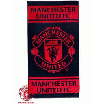 Полотенце Манчестер Юнайтед банное ЧЕРНОЕ