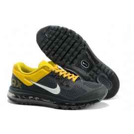 Кроссовки Nike Air Max+ серый/желтый