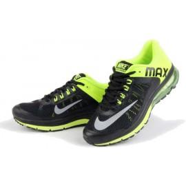 Кроссовки Nike Air Max+ черно- салатовые