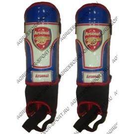 Щитки футбольные Arsenal с защитой голеностопа