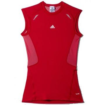 Компрессионная термофутболка красная Adidas безрукав
