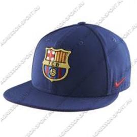 Бейсболка ФК Барселона с плоским козырьком