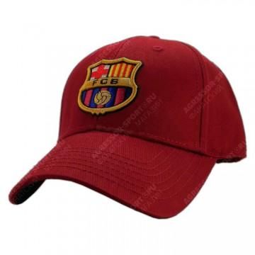Бейсболка ФК Барселона гранатовая