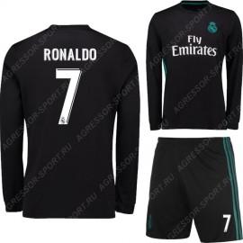 Форма Реал Мадрид черная 2017/18 RONALDO 7 дл.рукав