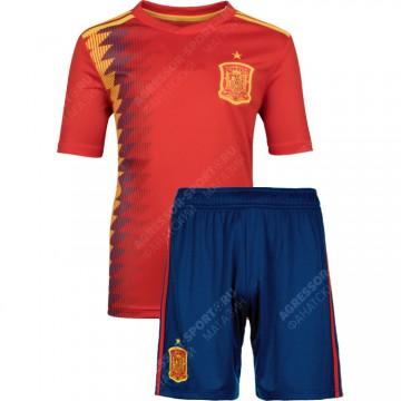 Детская форма сборной Испании 2018