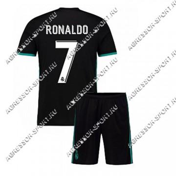 ДЕТСКАЯ форма Роналдо Реал Мадрид 2017/18 черная