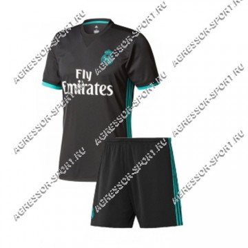 ДЕТСКАЯ форма Реал Мадрид 2017/18 черная